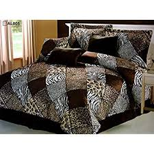 Leopard King Size Comforter Set Amazon Com 7 Piece King Safari Comforter Set Zebra Giraffe