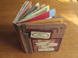 Upcycle Old Books - repurpose old board books into scrapbooks albums scrapbook ideas