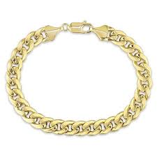 gold link bracelet mens images 10k yellow gold men 39 s cuban link bracelet 9 3mm shopvvs jpg