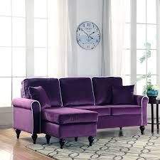sofa with reversible chaise lounge amazon com classic and traditional small space velvet sectional