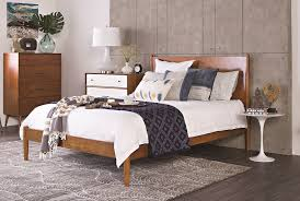 Eastern Inspired Bedding Alton Cherry Queen Platform Bed Living Spaces