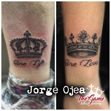one love one life tattoo 10 beautiful king queen tattoo for beautiful couples picsmine