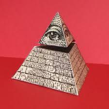 eye of providence pyramid paper toy tektonten papercraft