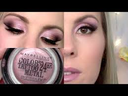 eyeshadow tutorial inked in pink maybelline color tattoo youtube