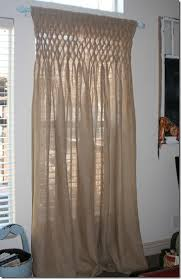 Smocked Burlap Curtains B Is For Burlap And Bananas A Daily Cup Of Mrs