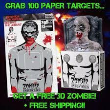 Grave Digger Halloween Costume Grave Digger 3 Bleeding Zombie Head 100 Paper Targets U2013 Zmb