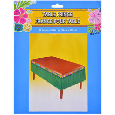 Table Skirts Bulk Green Luau Grass Table Skirt Fringe At Dollartree Com