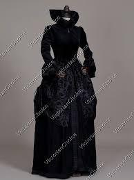 Victorian Style Halloween Costumes Renaissance Regal Queen Velvet Game Thrones Dress Witch Theater