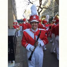 town musician marches in macy s thanksgiving day parade