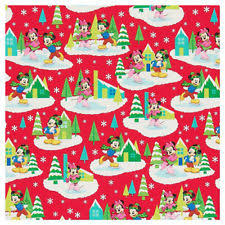minnie mouse christmas wrapping paper disney christmas minnie mouse wrapping paper ebay