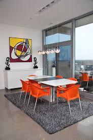 orange dining chairs archives dining room decor