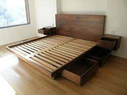 How To Make A Platform Bed Frame With Storage Underneath by Easy Diy King Platform Beds With Storage Modern King Beds Design