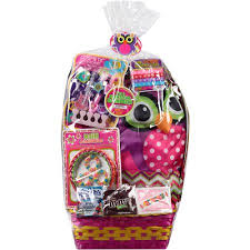 premade easter basket wondertreats owl easter basket with purse beauty accessories and