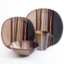 better homes and gardens bazaar brown 16 piece dinnerware set