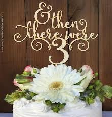 a and we re cake topper and then there were 3 baby shower cake topper woodword design