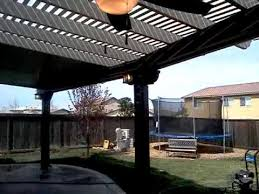 completed combination lattice solid patio cover youtube
