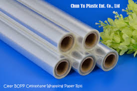 transparent wrapping paper clear bopp cellophane wrapping paper roll manufacturing chun yu