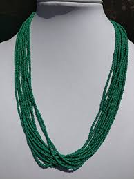 seed bead necklace clasp images Kelly green seed beads multi strands necklace with lobster clasp jpg