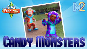 sims freeplay candy monsters quest full walkthrough youtube