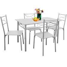 table et 4 chaises ensemble paul 5 pièces 1 table et 4 chaises résistant