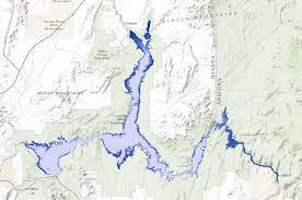 lake mead map lake mead shoreline elevation 1220 1100 data basin