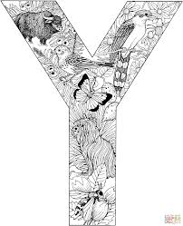 english alphabet with animals coloring pages free coloring pages