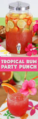 tropical rum punch recipe summer luau party ideas