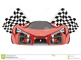 ferrari emblem vector vector of racing flags behind ferrari f80 car stock vector image