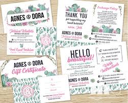 Custom Gift Cards For Small Business Agnes And Dora Business Card Marketing Kit Branding Thank You