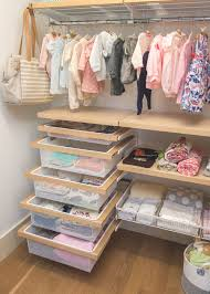 Baby Closet System A Neat Elfa Nursery Makes Use Of Vertical Space Container Stories
