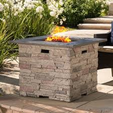 Fire Pit With Lava Rocks - dundee outdoor 32 inch square propane fire pit with lava rocks by