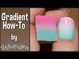 layniefingers tutorial how to do gradient nails with a sponge