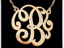 monogram initial necklace gold 57 gold single initial necklace single initial necklace gold or