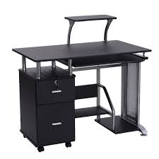 Desks Office by Black Computer Desk With Printer Shelf Desks Office Furniture
