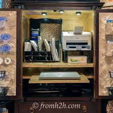 Office Desk Armoire Cabinet To Convert A Tv Armoire To A Desk