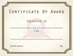 certificate of recognition template beautiful award paper