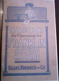 gift shop the manual for the franklin treadle sewing machine