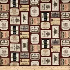 italian vineyard wine labels burgundy discount designer fabric