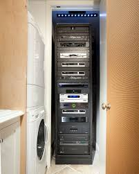home theater shelving main switch av rack in closet a v closet pinterest box bed