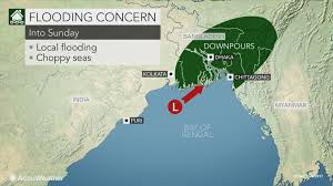 Bay Of Bengal Map Tropical Downpours To Soak North East India Bangladesh Into Sunday
