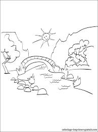 9 dessins de coloriage Paysage été à imprimer
