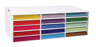 Desk Organizer Shelf by Construction Paper Storage Classroom Direct