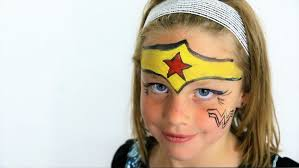 diy kids face paint cute super hero face paint wonder woman