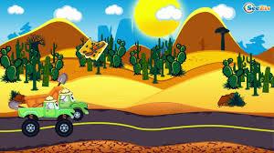 monster truck for children cartoon car cartoons for kids monster truck racing cars crazy race