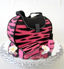 cake purse confections cakes creations girl pink zebra purse cake