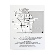Rush Street Chicago Map by Wedding Map Emily Schiesl Events