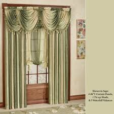 Curtains And Valances Ombre Semi Sheer Waterfall Valances