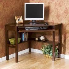 dark wood computer desk simple living black wood corner computer desk with drawer simple