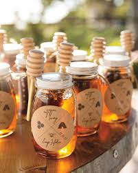 honey jar wedding favors favors from real weddings martha stewart weddings