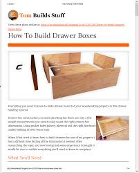 Woodworking Joints For Drawers by Howtobuilddrawerboxes Jpg
